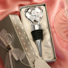 Elegant Chrome Bottle Wine HOS Stopper Crystal Heart Useful Drink US Reception