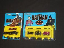 2 Ertl Vintage Batman Vehicles Batmobile & 3 Piece Micro Set MIP nos