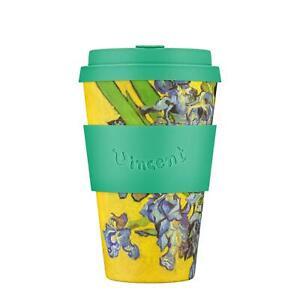 eCoffee Reusable Cup Van Gogh Museum Bamboo Eco-Friendly Travel Mugs 12oz - 14oz