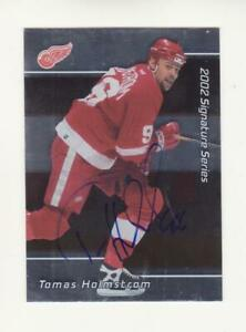 2001-02 In The Game Be A Player Tomas Holmstrom Autograph Card # 37 (01-02) BAP