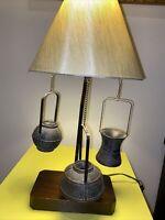 Vintage Frederick Cooper Bronze Oriental Baskets Table lamp Original Shade