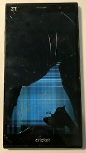 [BROKEN] ZTE Grand X Max+ Z987 Black Cricket Cell Phone Repair Cracked LCD Glass