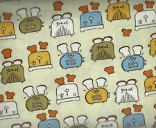 Metro Cafe toasters earth kitchen Kaufman food fabric