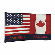 Usa American and Canada Friendship Flag 3 x 5 Foot America Canadian Friend New
