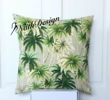 NEW Tommy Bahama Indoor/Outdoor 45cm Green & Sand Palm Tree Cushion Cover