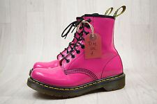 Ladies Dr Martens Doc Martens DM Pink Patent Leather 8 Eye Boots Size UK 4