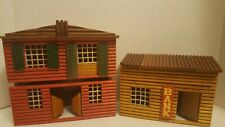 Vintage antique wooden house bank 2 buildings made in East Germany toy RARE