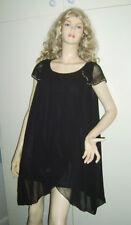LADIES BLACK GREEK GRECIAN GODDESS STYLE TOP MINI DRESS SIZE 16 USED***