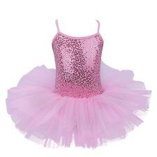 Kids Baby Girls Princess Gym Gymnastics Ballet Leotard Dress Ballerina Dancewear