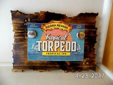 Handmade Wooden Sierra Nevada Tropical IPA Craft Beer Double Cap Bar Sign 2017
