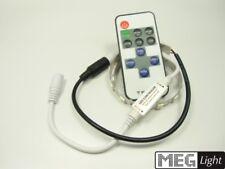 Mini LED Funk-Controller / Dimmer für LED Streifen mit Fernbedienung 12-24V - 6A