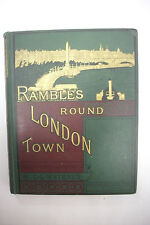 1880 RAMBLES ROUND LONDON *Ornate*Illustrated*The Tower*Zoo*Westminster Abbey+++