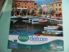 """""""Over There Cafe"""" 1000 piece Puzzle Excellent Condition- Waterside Cafe Painting"""