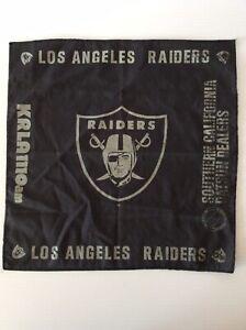 "Vintage Los Angeles Raiders NFL Bandana So Cal Datsun Dealers Advertisement 14"""