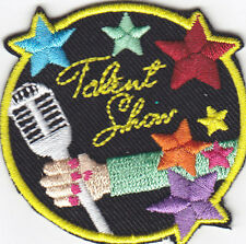 """TALENT SHOW"" Iron On Patch Acting Stage Actor Music"