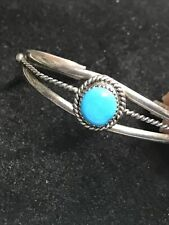NAVAJO INDIAN STERLING SILVER DOMED CUFF BRACELET by PR