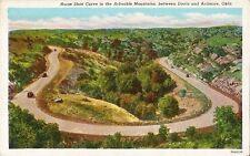 Postcard Oklahoma Ardmore Davis Horseshoe Curve in Arbuckle Mtns c1940s Unused