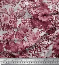 Soimoi Fabric Stripe,Chrysanthemum & Rose Flower Print Craft Fabric BTY -FW-329F