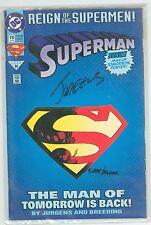 SUPERMAN 78 SIGNED BY DAN JURGENS COA DYNAMIC FORCES 4234 OF 10000 8.0 8.5 HC