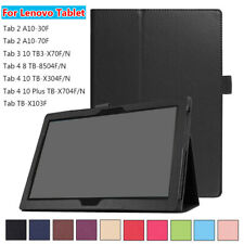 """Flip Stand Tablet Cover Smart Case Leather For Lenovo Tab 3 4 8.0"""" 10.1"""""""
