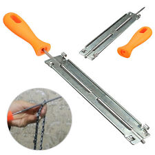 Chainsaw File Grater Holder 4mm Round Chain Sharpener w/ Handle For Woodwork