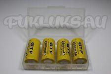 4 PILES RECHARGEABLE 16340 CR123A 3.7V 2500mAh Li-ion + BOITE DE RANGEMENT • KDO
