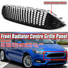 FOR FORD FOCUS MK3 SILVER SPORT HONEYCOMB MESH FRONT BUMPER CENTRE GRILLE