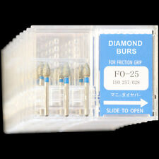 10 Boxes FO-25 MANI DIA-BURS Dental High Speed Handpiece Standard Diamond Burs