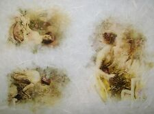 Rice Paper for Decoupage Scrapbook Craft Garden and Girl 293