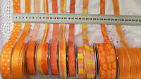 ORANGE & YELLOW Polyester 12-21mm Wide 3, 5 & 10 Metres 10 Design Style Choice