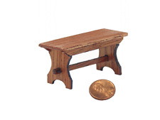 Dollhouse Miniatures 1:24 scale Bench - Artist Made Furniture