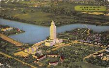 Baton Rouge Louisiana 1950 Postcard Air View Of Capitol