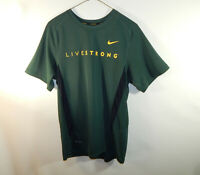 Livestrong Dri Fit Nike Fitness Athletic Short Sleeve Green T Shirt Size Small S