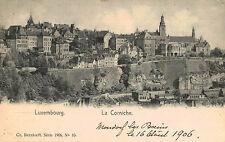 Luxembourg City,Luxembourg,La Corniche,Used,No Stamp,1906