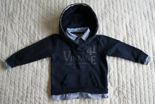 Mayoral navy blue hoodie with blue shirt for boy 4 years 104 cm