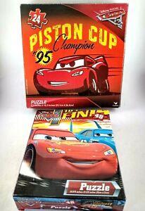 Cars Piston Cup Disney / Pixar 2 x Jigsaw Puzzles Ages  5 yrs plus