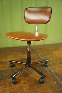 Vintage Office Chair Swivel Chair Desk Chair Architects Cognac 70er