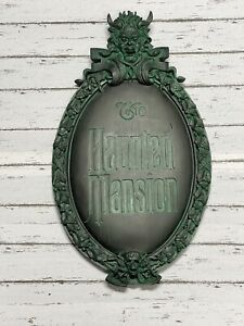 """Disney Haunted Mansion Gate Wall Plaque 22""""x13"""""""