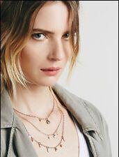 Free People Cherish 3 Chain Statement Necklace Jewelry Pendant $38.00