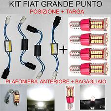 KIT LED FIAT GRANDE PUNTO - LUCI POSIZIONE TARGA PLAFONIERA BAGAGLIAIO NO ERRORE