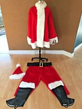 Santa Suit Deluxe Christmas Costume Xl, Hat, Belt, Boot Covers, Brand New, Usa