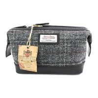 PellMell Black and Green Islay Tweed Classic Wallet with Black Leather Trim