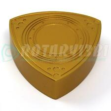 ROTOR SHAPED BRAKE / CLUTCH MASTER CYLINDER CAP COVER RX-7 RX7 13B 20B GOLD