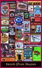"IRISH PUB & Bar SIGNS Large Colour Poster - 35"" x 21"" - Ireland - Pubs - Bars"