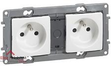Double prise de courant 2P+T 16A précablée Niloe blanc Legrand 664745