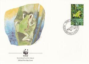 WWF078) WWF Panda, FDC, Bird, Frog, Insect, Polecat, Lichtenstein, 5 June 1989,