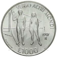 1997 * 1000 lire argento San Marino Arte come Speranza FDC