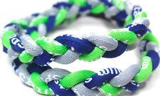 "Kid 18"" Twist Titanium Sport Necklace Neon Green Gray Navy Blue Tornado Baseball"