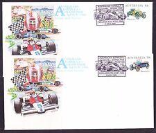 Australia 1985 Grand Prix Adelaide set 4 Illustrated Covers