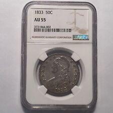 1833 50C Capped Bust Half Dollar NGC AU 55